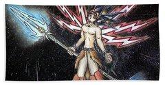 Satari God Of War And Battles Bath Towel
