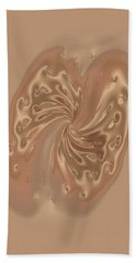 Satin Butterfly Hand Towel