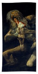 Saturn Devouring His Son Hand Towel