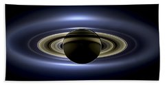 Saturn Mosaic With Earth Hand Towel