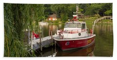 Saugatuck Fire Boat Hand Towel