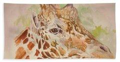 Savanna Giraffe Hand Towel