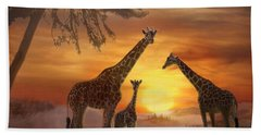 Savanna Sunset Bath Towel