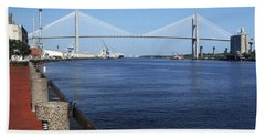 Savannah River Bridge Ga Hand Towel