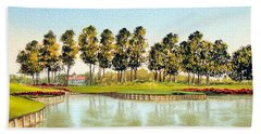 Sawgrass Tpc Golf Course 17th Hole Bath Towel by Bill Holkham