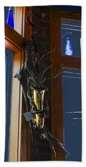 Hand Towel featuring the photograph Sax At The Full Moon Cafe by Greg Reed