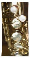 Saxophone Close Up Hand Towel
