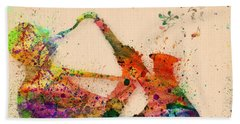 Saxophone  Hand Towel by Mark Ashkenazi