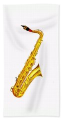 Saxophone Hand Towels