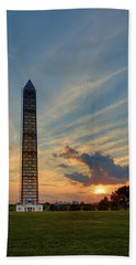 Scaffolding At Sunset Bath Towel