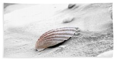 Hand Towel featuring the photograph Scallop Shell by Robert Meanor