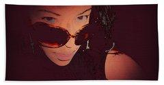 Futuristic Women Sunglasses Fashion Style Art Print Ai P. Nilson  Bath Towel