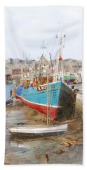 Scarborough Harbour Hand Towel