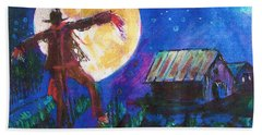 Scarecrow Dancing With The Moon Bath Towel
