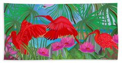 Scarlet Summer Dance - Limited Edition 1 Of 20 Hand Towel