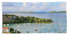 Scenic Overlook Of Cruz Bay St. John Usvi Bath Towel