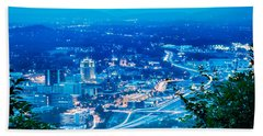 Scenics Around Mill Mountain Roanoke Virginia Usa Hand Towel