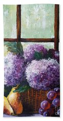 Hand Towel featuring the painting Scent Of Memories by Vesna Martinjak