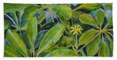 Schefflera-right View Hand Towel by Gail Kent