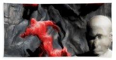 Bath Towel featuring the digital art Schizophrenic Lucidity by John Alexander