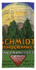 Schmidt Lithograph  Bath Towel by Cathy Anderson