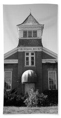 Bath Towel featuring the photograph School House by Michael Krek