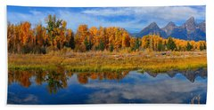Schwabacher Autumn Reflections Panorama Hand Towel