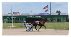 D3w-206 Scioto Downs Photo Hand Towel