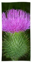Scottish Thistle  Bath Towel by William Tanneberger