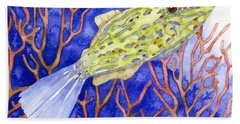 Scrawled Filefish Bath Towel