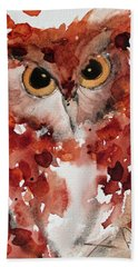 Screech Bath Towel by Dawn Derman
