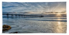 Scripps Pier Sky And Motion Hand Towel