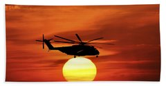 Sea Dragon Sunset Bath Towel