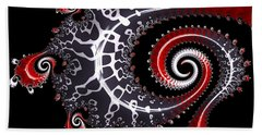 Hand Towel featuring the digital art Sea Dragon by Susan Maxwell Schmidt