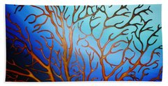 Sea Fan In Backlight Hand Towel