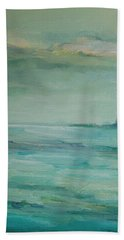Bath Towel featuring the painting Sea Glass by Mary Wolf