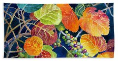 Hand Towel featuring the painting Sea Grapes II by Roger Rockefeller