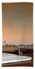 Sea Gulls Watching Over The Wetlands In Orange Bath Towel by Amazing Photographs AKA Christian Wilson