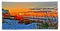 Sea Oats At Sunrise Hand Towel