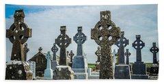 Sea  Of Celtic Crosses Bath Towel