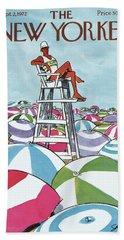 Sea Of Umbrellas Hand Towel