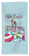 Sea Of Umbrellas Hand Towel