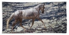 Sea Stallion Hand Towel by Melinda Hughes-Berland