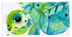 Sea Turtle Bath Towel by Dawn Derman