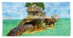 Sea Turtle Island Hand Towel