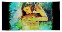 Bath Towel featuring the digital art Sea Turtle Love by Absinthe Art By Michelle LeAnn Scott