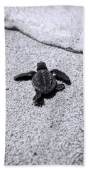 Sea Turtle Bath Towel by Sebastian Musial