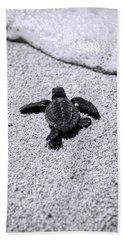 Sea Turtle Hand Towel by Sebastian Musial