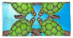 Sea Turtles Hand Towel by Betsy Knapp