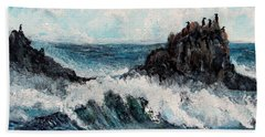 Bath Towel featuring the painting Sea Whisper by Shana Rowe Jackson